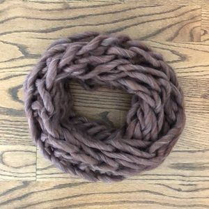 Chain Knit Circle Infinity Scarf